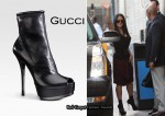 In Salma Hayek's Closet - Gucci Kills Open Toe Ankle Boots