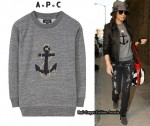 In Cheryl Cole's Closet - A.P.C Sweater, J Brand Jeans & Tory Burch Ankle Boots
