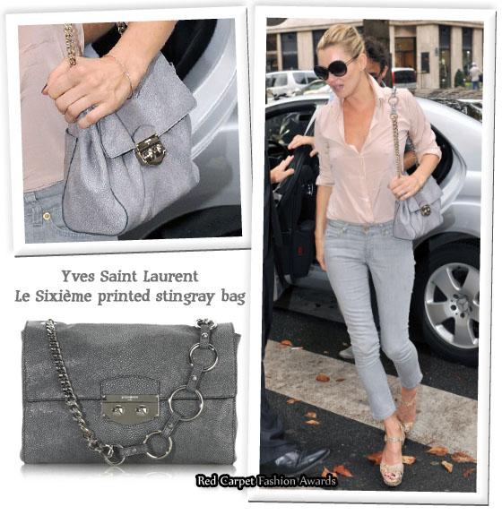 74ccd03087 ... Yves Saint Laurent Le Sixième printed stingray bag. Kate ...