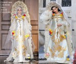 Runway To Photo Shoot - Dita von Teese In Christian Lacroix Couture & Valentino Couture