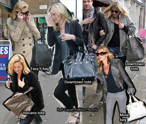 e7b3baf600 Kate Moss  Obsession - YSL Bags - Red Carpet Fashion Awards
