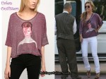 In Audrina Patridge's Closet - David Bowie Oversized Tee