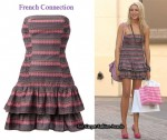 In Stephanie Pratt's Closet - French Connection Strapless Checker Dress
