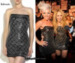 Buy Pink & Shakria's VMA Balmain Dress From Net-A-Porter.com