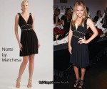 In Becki Newton's Closet - Notte by Marchesa Jersey V-Neck Dress