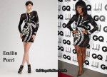 In Alexandra Burke's Closet - Emilio Pucci Long-Sleeve Patchwork Dress