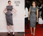 Runway To 'Reveal's 5th Birthday Party' - Carol Vorderman In Victoria Beckham Collection