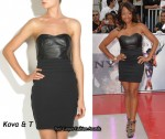In Monique Coleman's Closet - Kova & T Lila Black Strapless Dress