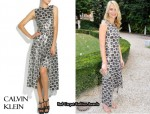In Claire Danes' Closet - Calvin Klein Tilda Paillette Detailed Crochet Dress
