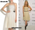 In Dianna Agron's Closet - D&G Tulle Dress & Burberry Prorsum Platform Sandals