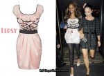 In Alesha Dixon's Closet - Lipsy Pink Ruffled Mini Dress