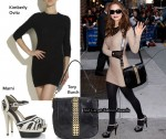 In Eliza Dushku's Closet - Kimberly Ovitz Dress, Marni Heels & Tory Burch Messenger Bag