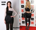 In Fearne Cotton's Closet - Olivia Rubin Embroidered Tulip Peplum Dress