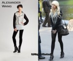 On The Set Of Gossip Girl With Taylor Momsen Wearing Alexander Wang