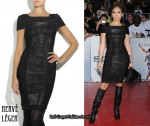 In Jennifer Lopez' Closet - Herve Leger Black Bandage Dress