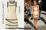 In Emma Watson's Closet - Christopher Kane Layered Dress