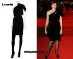 In Kristen Scott Thomas' Closet - Lanvin One-Shoulder Velvet Dress