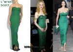 In Nicole Kidman & L'Wren Scott's Closet - L'Wren Scott Strapless Green Gown