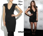 In Mischa Barton's Closet - Herve Leger Runway Beaded Bandage Dress