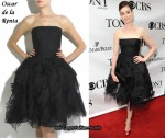 In Anne Hathaway's Closet - Oscar de la Renta Tulle Strapless Dress