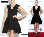 In Kristen Bell's Closet - Preen Peplette Technical Crepe Dress