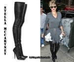 In Rihanna's Closet - Stella McCartney Perforated Thigh-High Boots