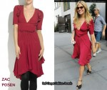 In Sienna Miller's Closet - Zac Posen Ruffled Rasberry Crepe Dress