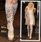 Heidi Montag Wears Miu Miu's Embellished Knee-High Socks