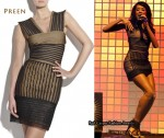 In Jade Ewen's Closet - Preen Minx Pleated Mesh Dress