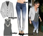 In Cheryl Cole's Closet - K Karl Lagerfeld Blazer, Haute Hippie Tank, J Brand Jeans & Giuseppe Zanotti Ankle Boots