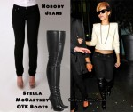 In Rihanna's Closet - Nobody Jeans & Stella McCartney Thigh-High Boots