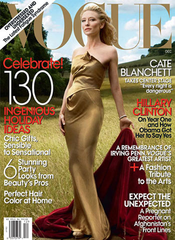 Cate Blanchett For Vogue US December 2009 - Red Carpet ... Cate Blanchett Magazine