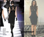 Runway To X Factor Week 5 - Cheryl Cole In Jean Paul Gaultier & Marios Schwab