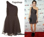 In Alexa Chung's Closet - Topshop Studded One Shoulder Dress