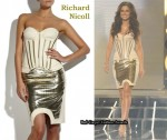 In Cheryl Cole's Closet - Richard Nicoll Canvas Corset Dress