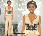 Dannii Minogue Wears J'Aton Couture On Week 8 Of The X Factor