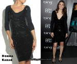 In Emmy Rossum's Closet - Donna Karan Black Sequin Jersey Dress