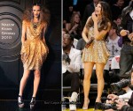 Runway To LA Lakers Game - Fergie In Naeem Khan