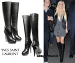 In Heidi Montag's Closet - Yves Saint Laurent Easy Leather Boots