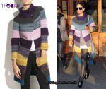 In Halle Berry's Closet - Theory Striped Knitted Cardigan