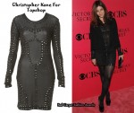 In Julia Restoin-Roitfeld's Closet - Christopher Kane for Topshop Embellished Bod-Con Dress