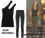 In Cheryl Cole's Closet - Julien Macdonald Tank & Crystal-Embellished Stretch-Jersey Pants