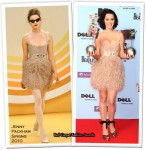 Runway To 2009 MTV Europe Music Awards Press Conference - Katy Perry In Jenny Packham