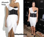 In Kim Kardashian's Closet - Alexander Wang Corseted One-Shoulder Dress