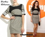 In Kelly Brook's Closet - Matthew Williamson ZigZag Dress