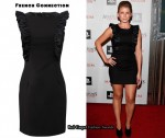 In Lauren Bosworth's Closet - French Connection Black Ruffle Dress