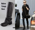 In Nicole Richie's Closet - Modern Vintage Shoes Mack Spat Buckle Flat Boots
