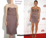 In Paula Patton's Closet -  Bottega Veneta Corseted Silk Dress