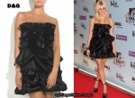In Pixie Lott's Closet - D&G Black Ruffled Dress