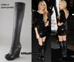 In Stephanie Pratt's Closet - Camilla Skovgaard Over the Knee Wedge Boots & Topshop Sequin Dress